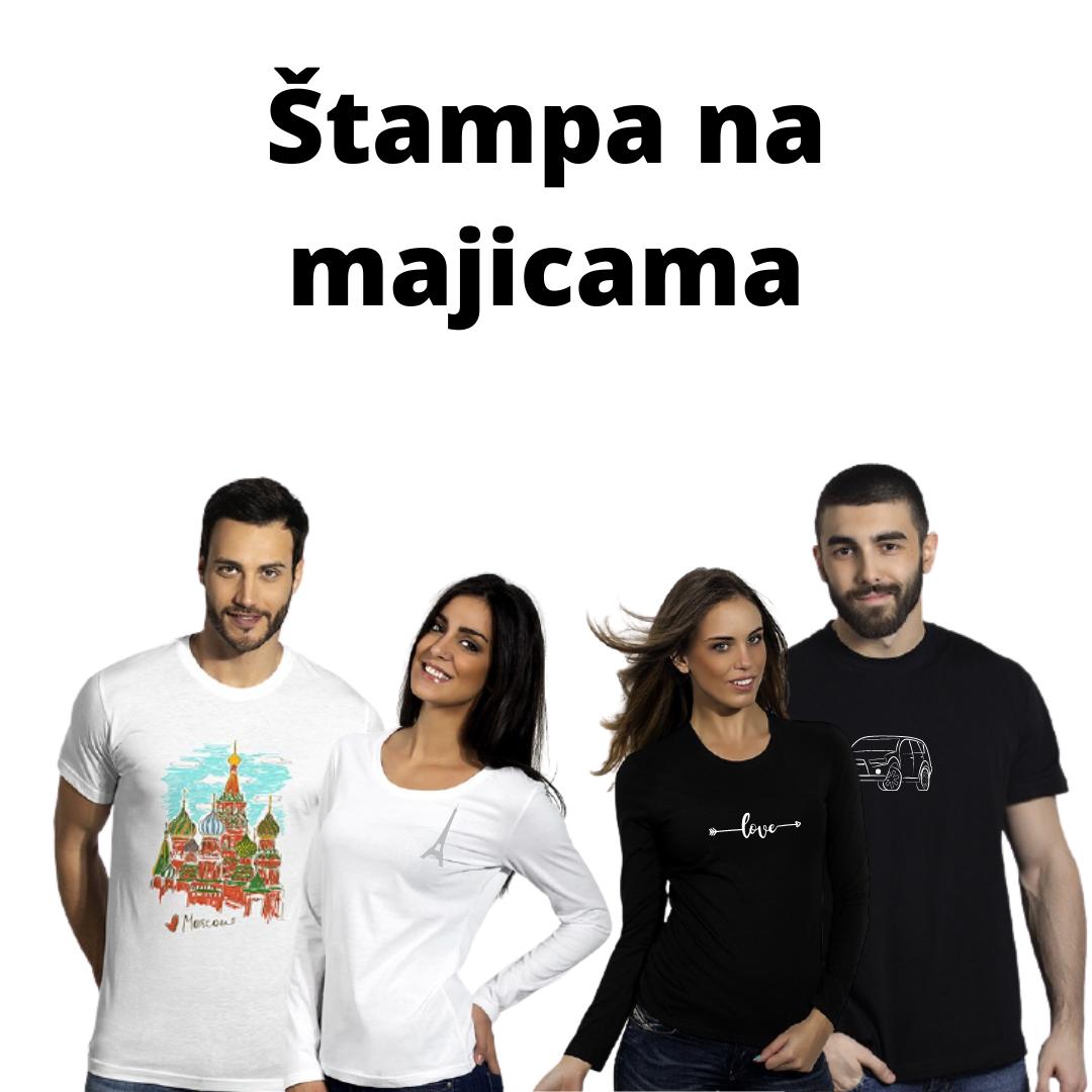 dva muškarca i dve devojke u majicama sa štampom
